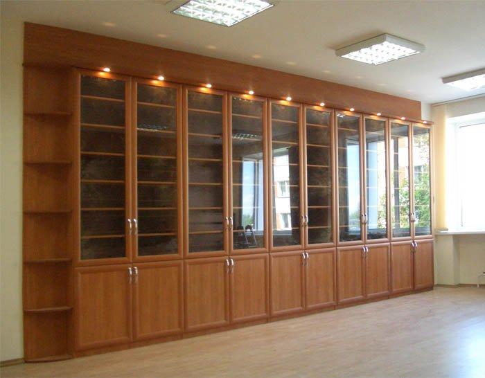 Шкафы для библиотеки из мдф.